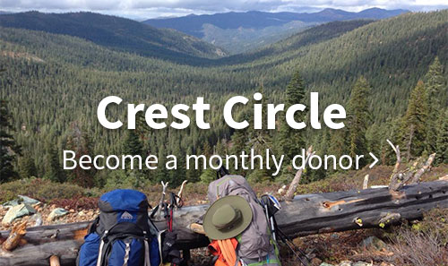 Crest Circle. Become a monthly donor.