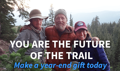You are the future of the trail. Make a year end gift today.