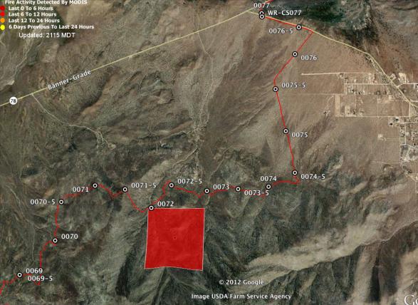 Banner Fire MODIS