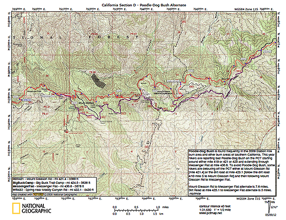 Poodle-Dog Bush Alternate Map