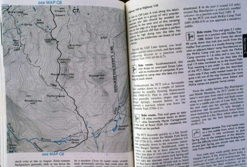 Wilderness Press PCT guidebooks.