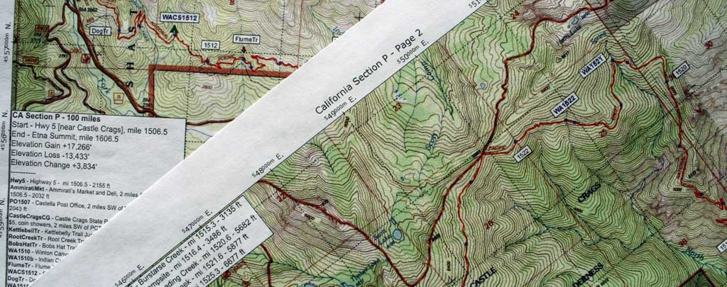 Halfmile's PCT maps. Photo by Jack Haskel