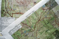 Halfmile's PCT maps. Photo by Jack Haskel