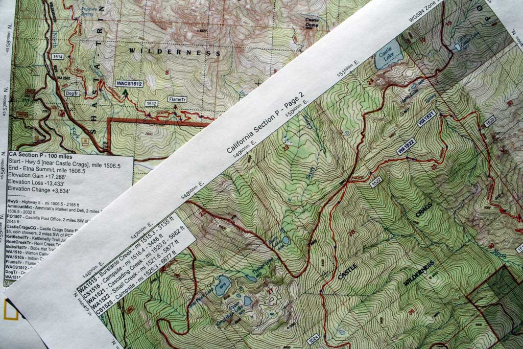 Pct Half Mile Maps | compressportnederland