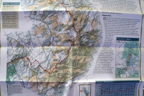 USFS PCT map. Photo by Jack Haskel