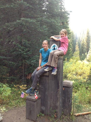 Nine-year-old Monkey and Mamma Bear at the PCT terminus