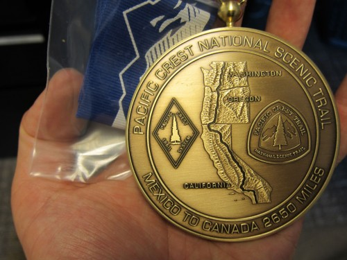 Completion medals are engraved with your name and year on the back.