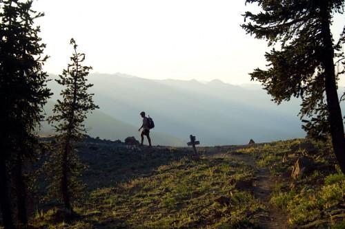 A thru-hiker takes a turn in Northern California. Photo by Ryan Weidert