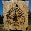 Pacific Crest Trail emblem. Photo by Jack Haskel