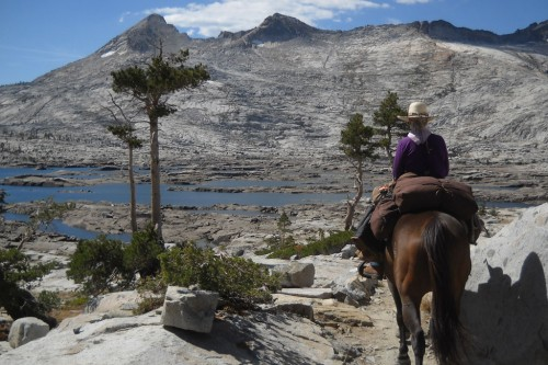 Equestrian Pacific Crest Trail ride at Lake Aloha. Photo by Susan Bates