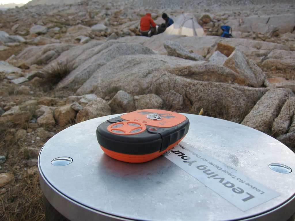 SPOT device on the Pacific Crest Trail. Photo by Jack Haskel