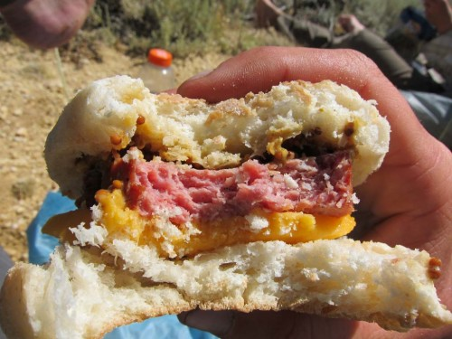 Pacific Crest Trail lunch. Photo by Jack Haskel