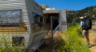 Junked trailers on the Pacific Crest Trail. Photo by Aaron Doss