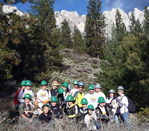 Troop 125 working on the Pacific Crest Trail.