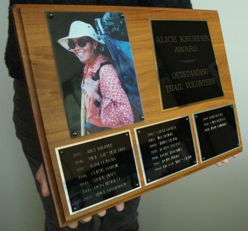 Alice Krueper Award. Photo by Jack Haskel