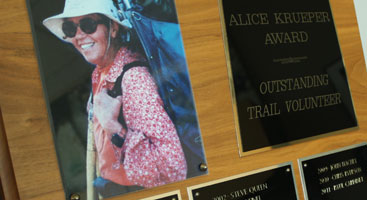 PCTA Alice Krueper Award. Photo by Jack Haskel