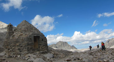 Muir Hut on top of Muir Pass, John Muir Trail. Photo by Jack Haskel