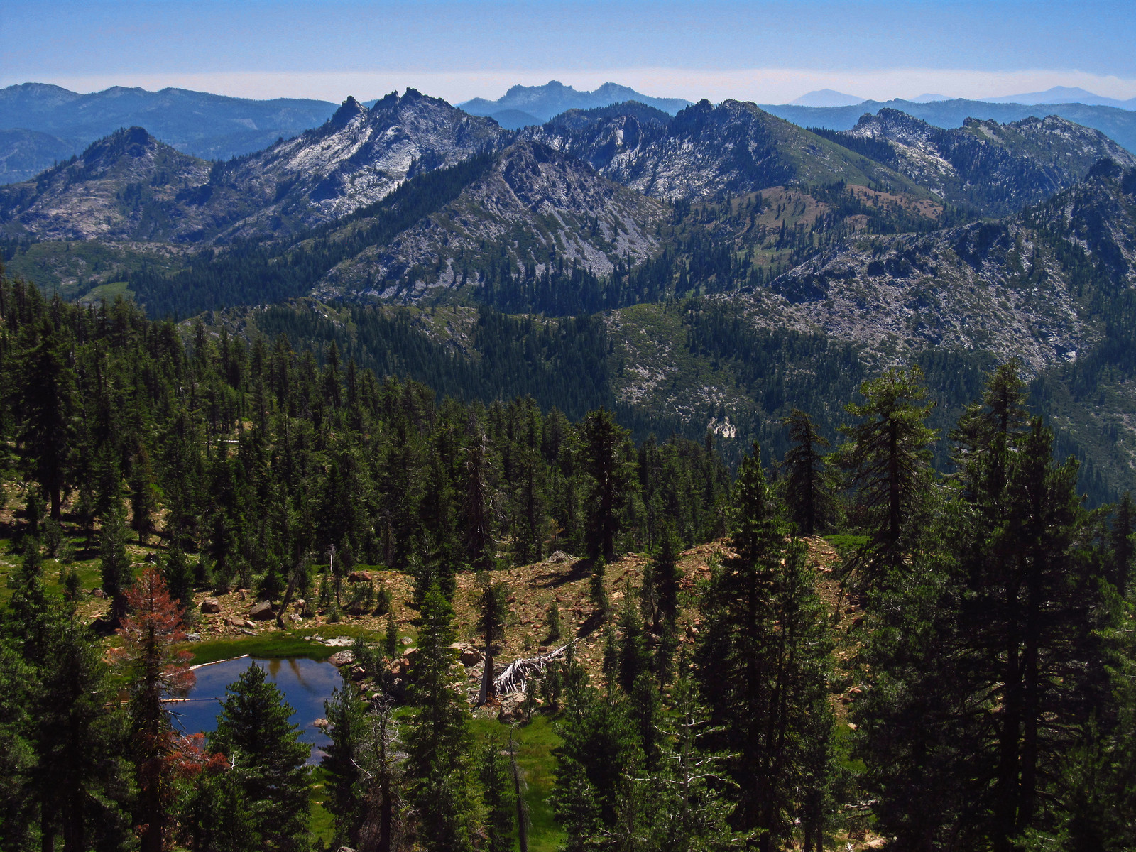 Grand views from the Pacific Crest Trail in far Northern California.