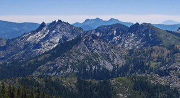 Rugged mountains along the Pacific Crest Trail in Northern California. Photo by Weathercarrot