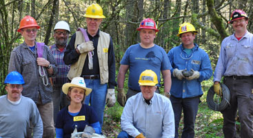 PCT Volunteer group. Photo by Cynthia Higgins