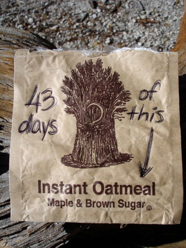 Too much oatmeal. Variety is important. Photo by Stati Shah