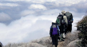 PCT hikers in Southern California. Photo by Jackie Zinger