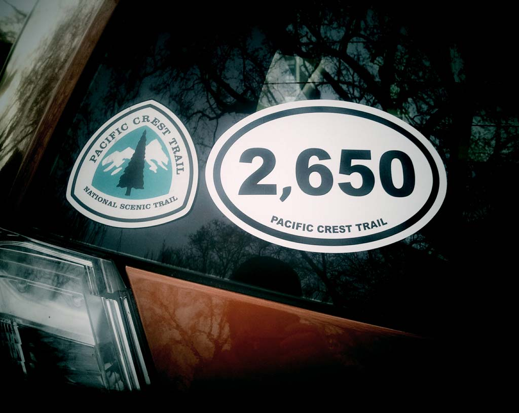 2,650 miler Pacific Crest Trail sticker