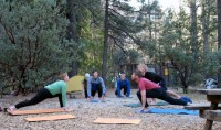 Yoga in Idyllwild state park campground. Photo by Jack Haskel