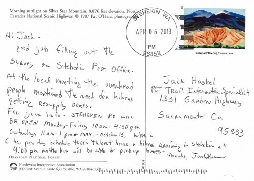 Stehekin Post Master Jonathan Scherer writes with the new P.O. hours.