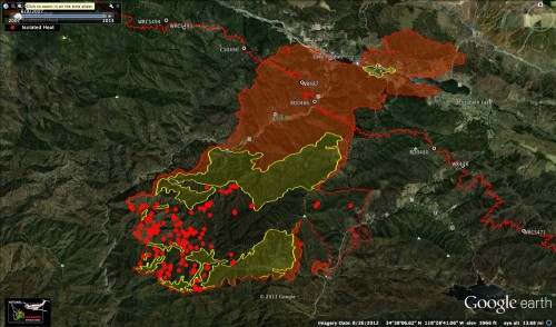 The Powerhouse Fire and the PCT as of the morning of June 2nd.