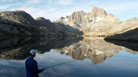 2013 Photo Contest - Trail Majesty - Honorable Mention Catching the big one in the Ansel Adams Wilderness.  Photo by: Ken Moon