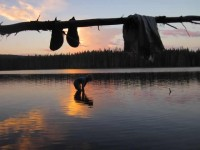 2013 Photo Contest - Human Spirit - Second Place Daredevil cleaning up at sunset at Squaw Lake just off the PCT in Sky Lakes Wilderness, Ore.  Photo by: Danielle Kelley
