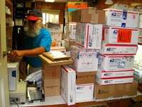 2013 Photo Contest - Human Spirit - Honorable Mention Resupply boxes await at the Stehekin Post Office.  Photo by: Barney Hope