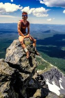 2013 Photo Contest - Human Spirit - Honorable Mention With Crater Lake behind us, Thielsen Peak afforded another great view of Oregon, Diamond Lake and our path northward.  Photo by: Jim Austin