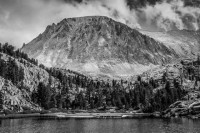 2013 Photo Contest - Trail Majesty - Honorable Mention Approaching Whitney from the West while section hiking the John Muir Trail  -- and the snow is coming!  Photo by: Jim Austin