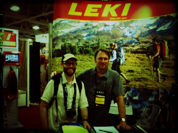 Seth Levy and Greg Wozer. Leki, powering you up the trail while powering us behind the scenes.
