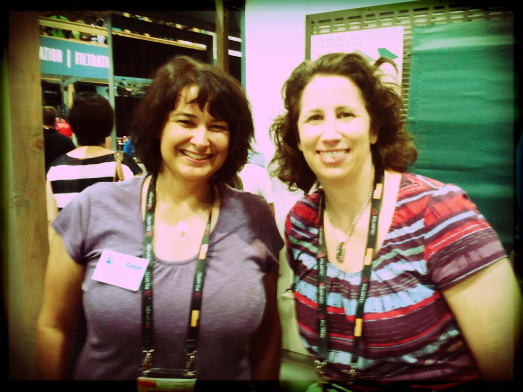 Our own Angie Williamson smiling with Mona West from Thermarest. We're friends.