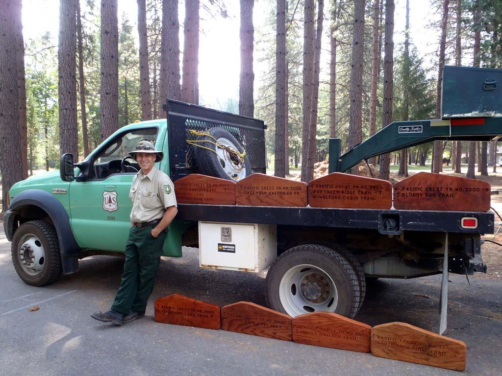 Mike McFadin. recreation technician for Shasta-Trinity NF