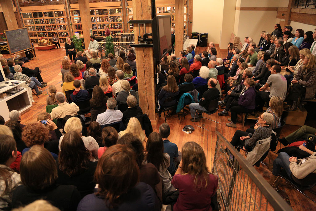 Cheryl Strayed's sold out PCT fundraiser at the beautiful KEEN headquarters.