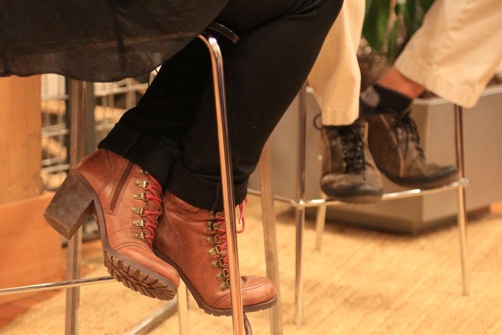 Cheryl's fantastic boots.