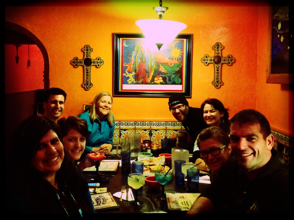 We had a wonderful time at dinner with our friends from the ATC, CDTC and Warrior Hike!