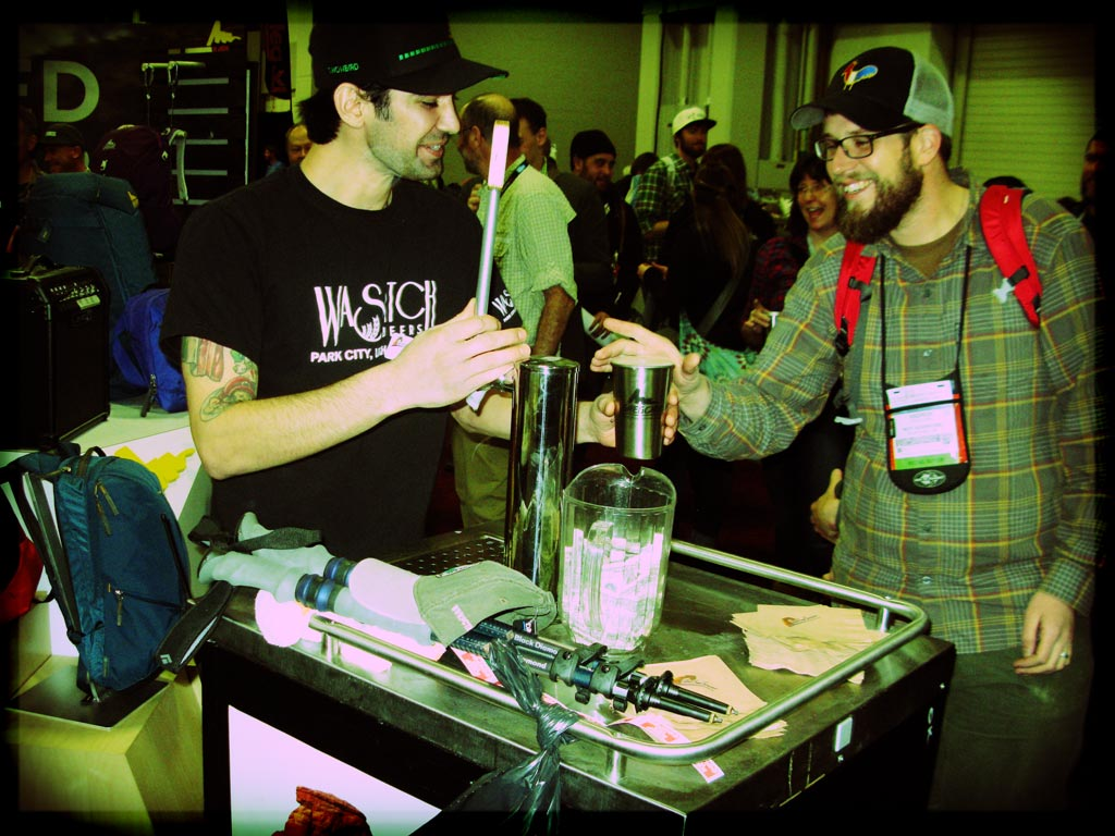 Gregory Mountain Products poured ample free and local brew at the fundraiser in our honor. Cuthroat Pale Ale & Wasatch Fiesta Lager was on tap.
