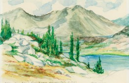Charles loved watercolor. Here's a scene from the John Muir Trail.