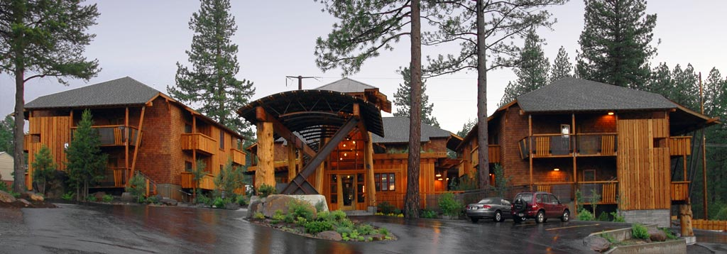 The events are at the beautiful Cedar House Sports Hotel in Truckee. [photo: Cedar House Sports Hotel]