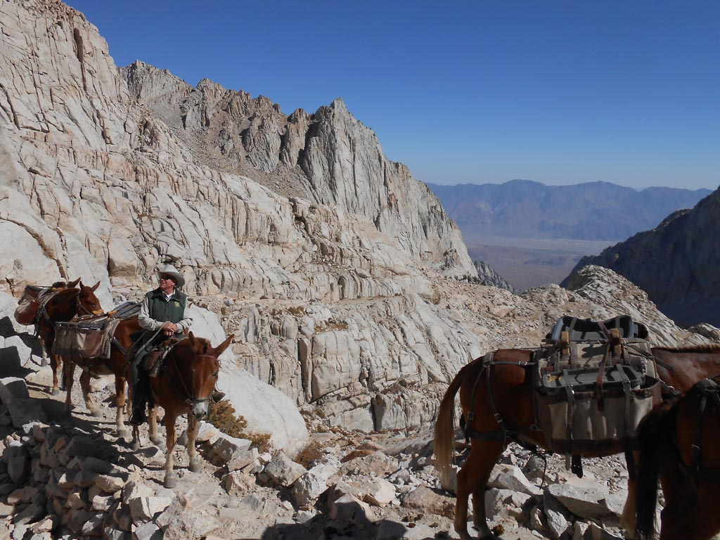 Packing in to a project on Mt. Whitney.