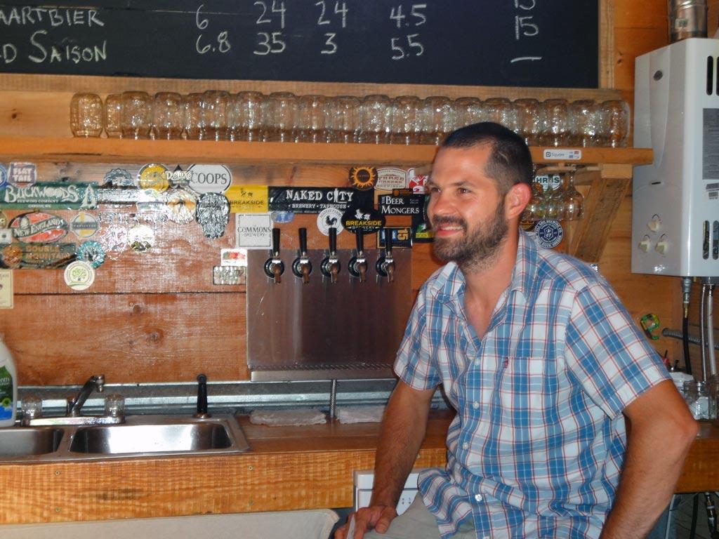 Benton Bernard, Acadian Farm's Brew Master. A friendly face to all PCT hikers.