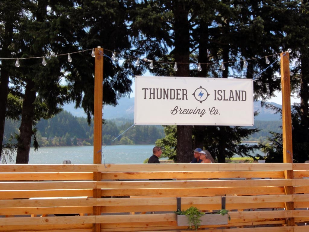 Thunder Island Brewing's patio. Why even bother with the hiking?
