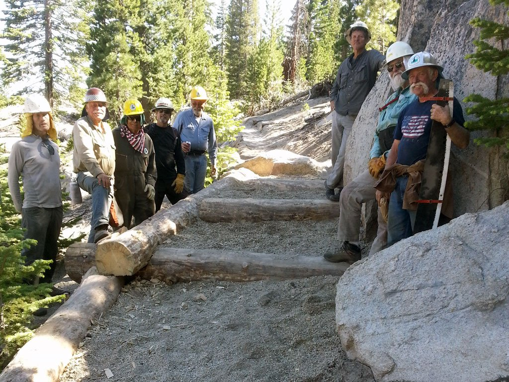 New steps to deal with erosion issues on the trail.