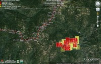 MODIS fire layer taken at 3:25pm on 8/1/14