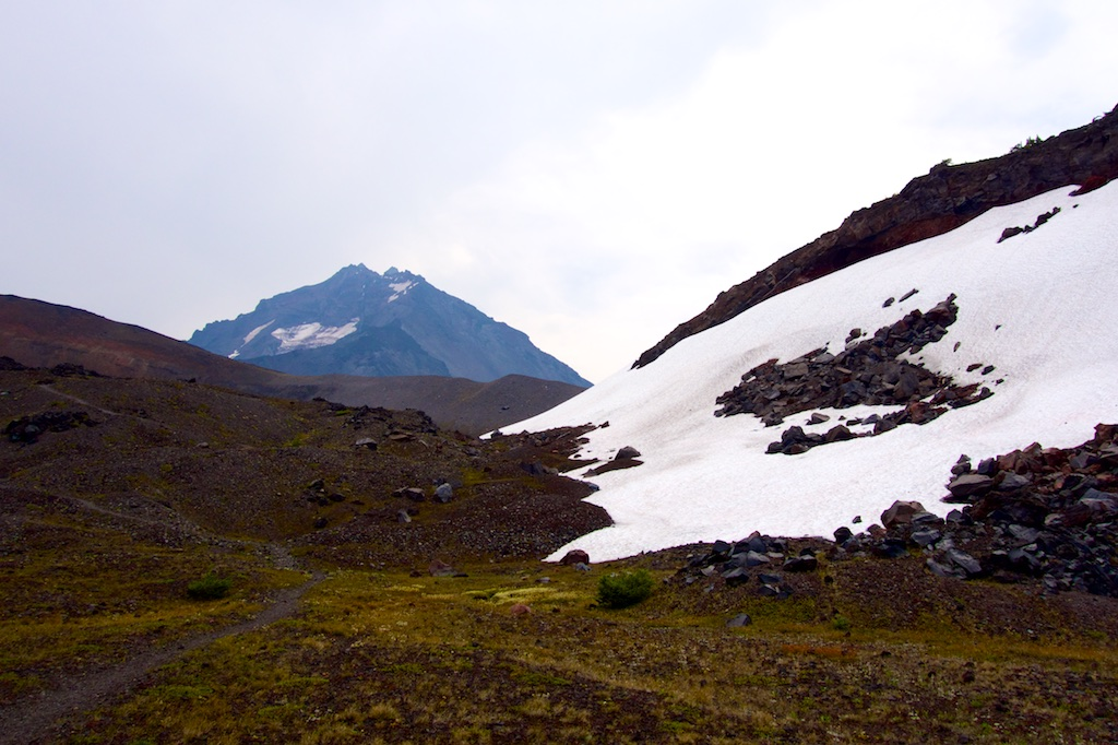Crossing through the alpine wilderness of the Three Sisters mountains. Oregon